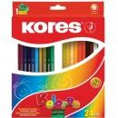 "Карандаши цветные ""Kores"" (24 цвета)"
