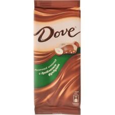 """Шоколад """"Dove"""" молочный с дробленым фундуком (90 г)"""