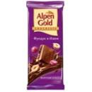 """Шоколад """"Alpen Gold"""" с фундуком и изюмом (90 г)"""