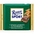 """Шоколад """"Ritter Sport"""" молочный с миндалем (100 г)"""