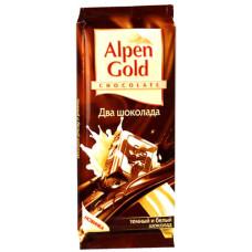 """Шоколад """"Alpen Gold"""" два шоколада (90 г)"""