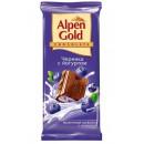 """Шоколад """"Alpen Gold"""" черника с йогуртом (90 г)"""