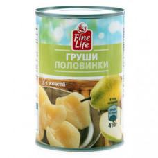 """Груши половинки в сиропе """"Fina Life"""" (410 г)"""