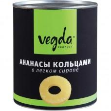 """Ананасы кольца """"Vegda"""" (850 мл)"""
