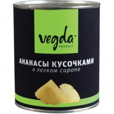 "Ананасы кусочки ""Vegda"" (850 г)"
