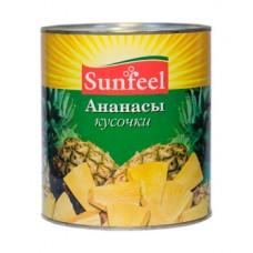 """Ананасы кусочки """"Sunfeel"""" (3,1 кг)"""