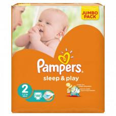 Подгузники Pampers Sleep & play 2 (3-6 кг) (88 шт.)
