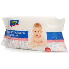"""Влажные салфетки детские """"Aro"""" (75 шт.)"""