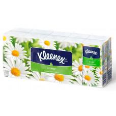 """Бумажные носовые платки """"Kleenex"""" ромашка (10 х 10 шт.)"""