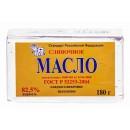 Масло сладко-сливочное ГОСТ 82,5% (180 г)