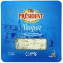 """Творог """"President"""" рассыпчатый 0,2% (200 г)"""