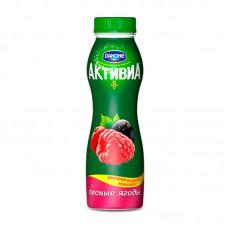 """Йогурт питьевой """"Активиа"""" лесные ягоды 2,1% (260 г)"""
