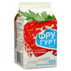 """Йогурт """"Фругурт"""" питьевой клубничный 1,5% (475 г)"""