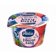 """Йогурт """"Valio"""" клубника с черникой 2,6% (180 г)"""