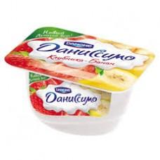 """Йогурт творожный """"Даниссимо"""" клубника - банан 5,4% (130 г)"""