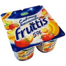 """Йогурт """"Fruttis"""" банан - клубника 5% (4 х 115 г)"""
