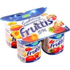 "Йогурт ""Fruttis"" клубника - персик 5% (4 х 115 г)"
