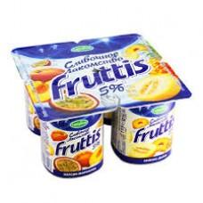 """Йогурт """"Fruttis"""" персик - маракуйя 5% (4 х 115 г)"""