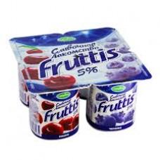 """Йогурт """"Fruttis"""" вишня - черника 5% (4 х 115 г)"""