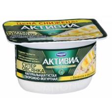 """Йогурт """"Активиа"""" творожная с бананом и овсянкой (130 г)"""