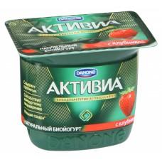 "Йогурт ""Активиа"" клубника (150 г)"