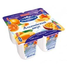 """Йогурт """"Alpenland"""" абрикос/персик-маракуйя 7,5% (4 х 95 г)"""