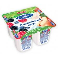 """Йогурт """"Alpenland"""" лесные ягоды/яблоко-груша 0,3% (4 х 95 г)"""