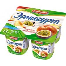 """Йогурт """"Эрмигурт"""" персик-маракуйя 0,3% (4 х 115 г)"""