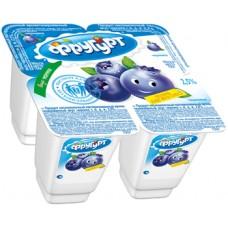 """Йогурт """"Фругурт"""" черника 2,5% (4 х 100 г)"""