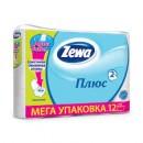 """Туалетная бумага """"ZEWA Plus"""" белая 2-слойная (12 шт.)"""