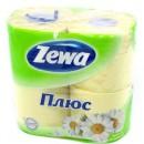 "Туалетная бумага ""ZEWA Plus"" ромашка 2-слойная (4 шт.)"