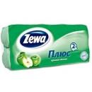 "Туалетная бумага ""ZEWA Plus"" яблоко 2-слойная (8 рул.)"