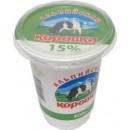 """Сметанный продукт """"Альпийская коровка"""" 15% (400 г)"""