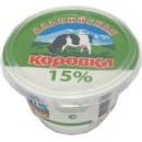 """Сметанный продукт """"Альпийская коровка"""" 15% (200 г)"""