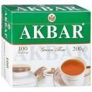 """Чай """"Akbar"""" зеленый (100 пак.)"""